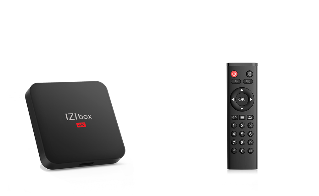 IZIBOX and remote control izitv player